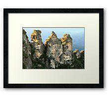 Three Sisters Dawn, Blue Mountains, Australia Framed Print