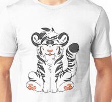 Cute Chibi White Tiger Unisex T-Shirt