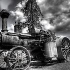 old steam tractor HDR by Jeannie Peters