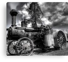 old steam tractor HDR Canvas Print