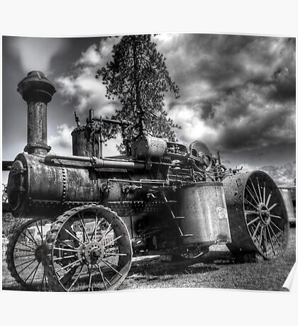 old steam tractor HDR Poster