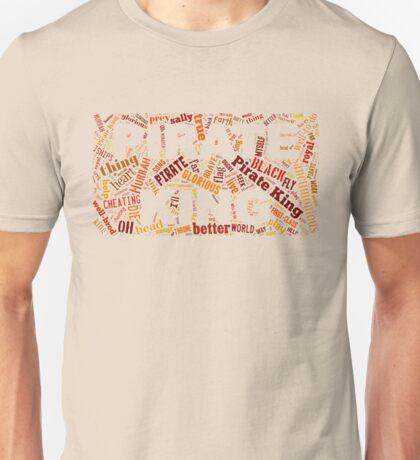 Gilbert & Sullivan - Pirates of Penzance - Pirate King Word Cloud Unisex T-Shirt