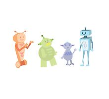 Colourful Bot Squad by JoshCooper
