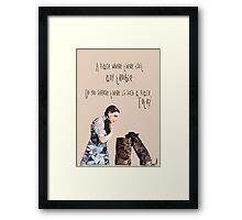Dorothy and Toto's Place //pastel Framed Print