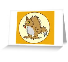 Stubby the Werewolf Greeting Card