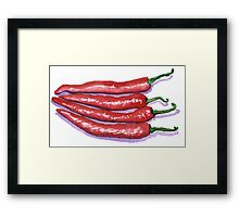 Red Hot Chilis Framed Print
