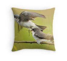 Satisfied? Throw Pillow