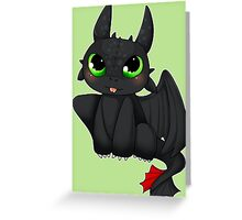 Toothless - How to Train your dragon Greeting Card