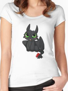Toothless - How to Train your dragon Women's Fitted Scoop T-Shirt