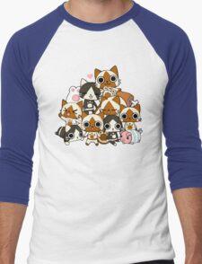 Airou & Merorou Monster Hunter cats Men's Baseball ¾ T-Shirt