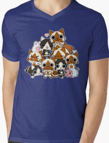 Airou & Merorou Monster Hunter cats Mens V-Neck T-Shirt