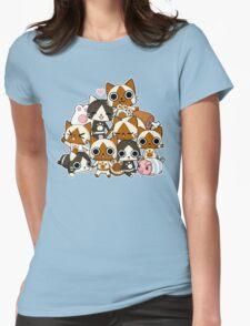 Airou & Merorou Monster Hunter cats Womens Fitted T-Shirt