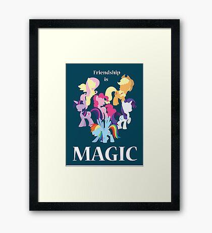 My Little Pony Poster Framed Print