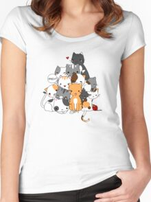 Meowntain of cats Women's Fitted Scoop T-Shirt