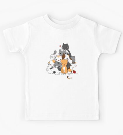 Meowntain of cats Kids Tee