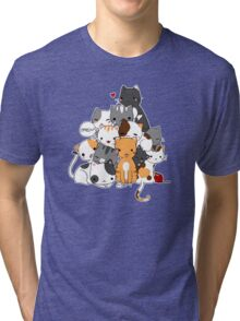 Meowntain of cats Tri-blend T-Shirt