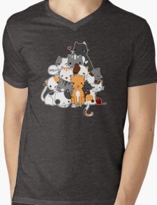 Meowntain of cats Mens V-Neck T-Shirt