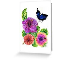 Painted Hibiscus Greeting Card