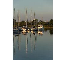 Quiet Summer Afternoon - Boats and Downtown Skyline Photographic Print