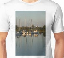 Quiet Summer Afternoon - Boats and Downtown Skyline Unisex T-Shirt