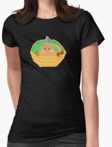 Kitty in a Basket (Flowers) T SHIRT  STICKER T-Shirt
