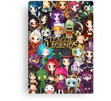 Chibi League of Legends Canvas Print