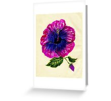 Painted Hibiscus2 Greeting Card