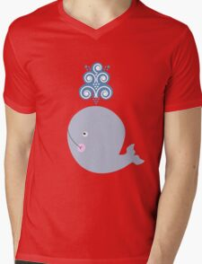 Little Whale Mens V-Neck T-Shirt