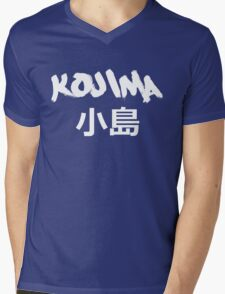 Kojima Black Mens V-Neck T-Shirt