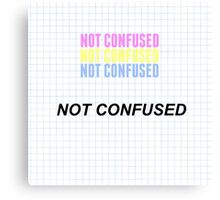"""Pansexual """"Not Confused"""" with graph Canvas Print"""
