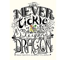 Never Tickle a Sleeping Dragon (Color) Photographic Print