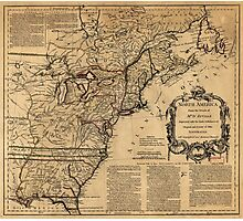 Map of North America by Jefferys & Anville (1755) Photographic Print