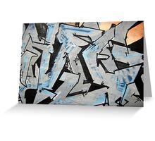 Graffiti Blue Grey Greeting Card