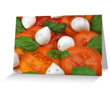 Caprese With Orange Coloured Tomatoes Greeting Card