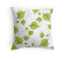BirchLeaves Throw Pillow