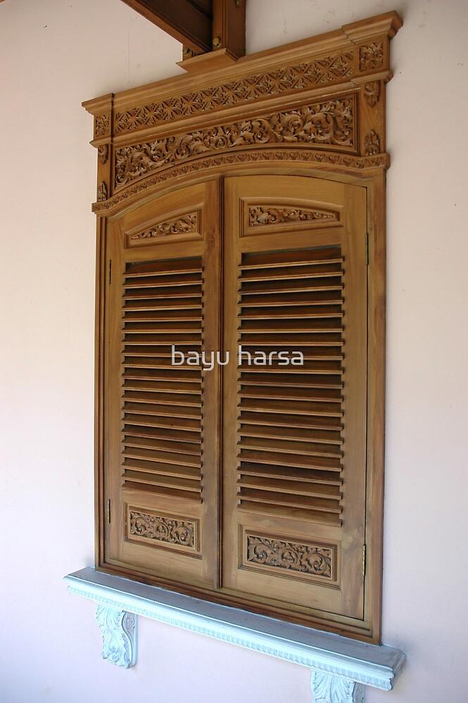 wooden window by bayu harsa