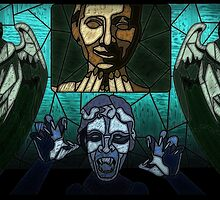 Weeping angels stained glass by UncleFrogface