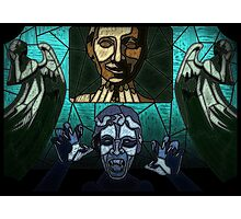 Weeping angels stained glass Photographic Print