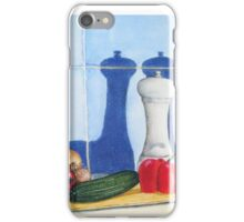 quirky still life realist art peppers and vegetables  iPhone Case/Skin