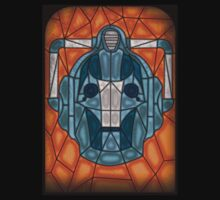 Cyberman stained glass Kids Clothes