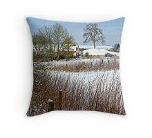 Snow Comes South Throw Pillow