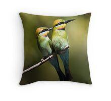Rainbow Bee-Eaters Throw Pillow