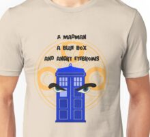 A mad man, a blue box and angry eyebrows Unisex T-Shirt