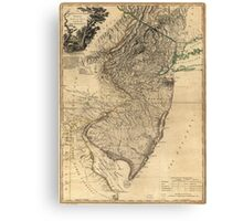 The Province of New Jersey Map (1778) Canvas Print