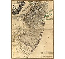 The Province of New Jersey Map (1778) Photographic Print