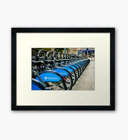 Bicycles London England Framed Print