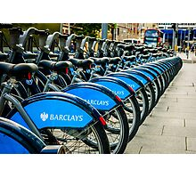 Bicycles London England Photographic Print