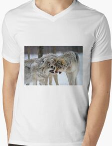 Timber Wolves Mens V-Neck T-Shirt
