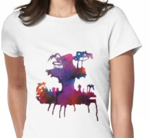 Gorillaz Plastic Beach Womens Fitted T-Shirt