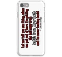 Cristina Yang Seattle Grace Mercy Death iPhone Case/Skin